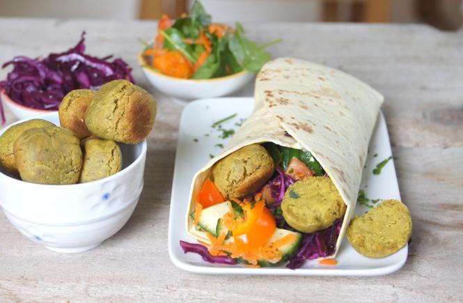 Falafel Wrap Rezept Buddhabrot
